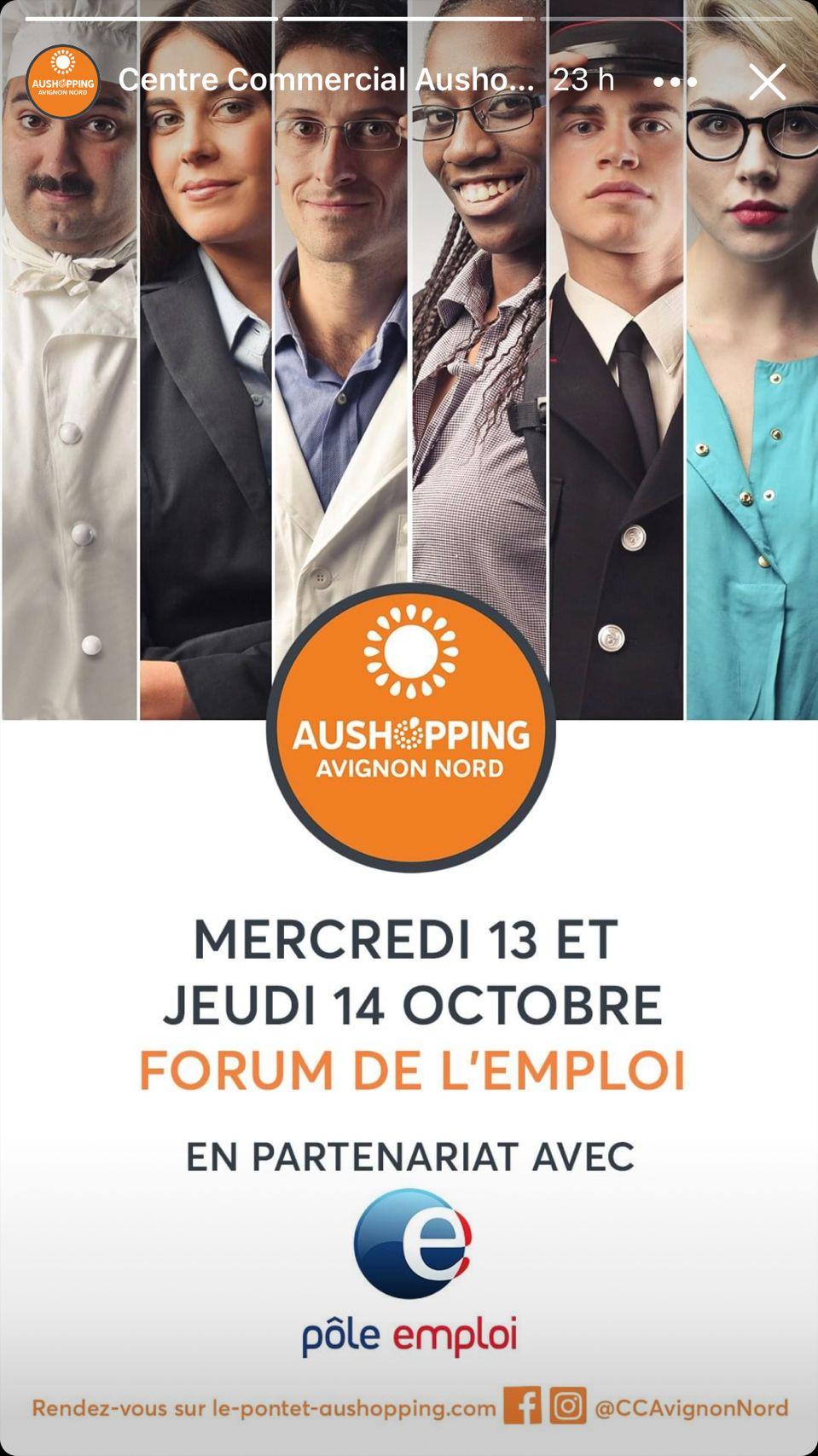 Forum de l'emploi au Pontet - 13 et 14 octobre 2021